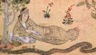 Królowa Saby -- portret perskiego artysty