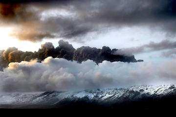 Pył wulkaniczny nad Islandią