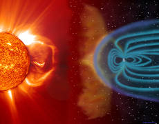 Wiatry słoneczne ścierają się z powłoką magnetyczną Ziemi