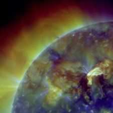 Obraz powierzchni Słońca zarejestrowany przez Solar Dynamics Observatory w NASA